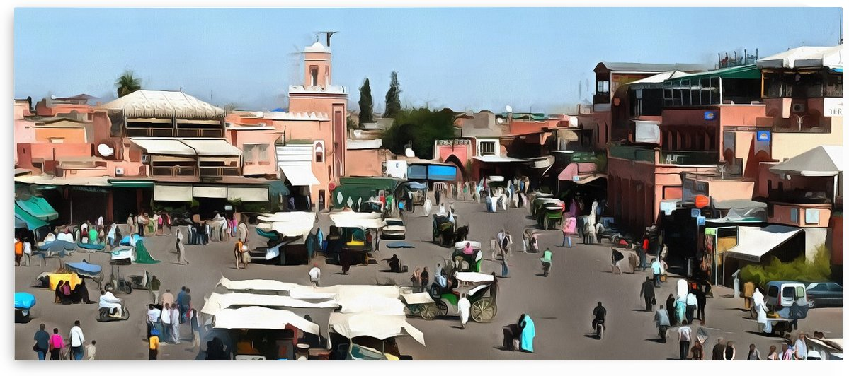 View Over Jemaa el Fnaa 4 by Dorothy Berry-Lound