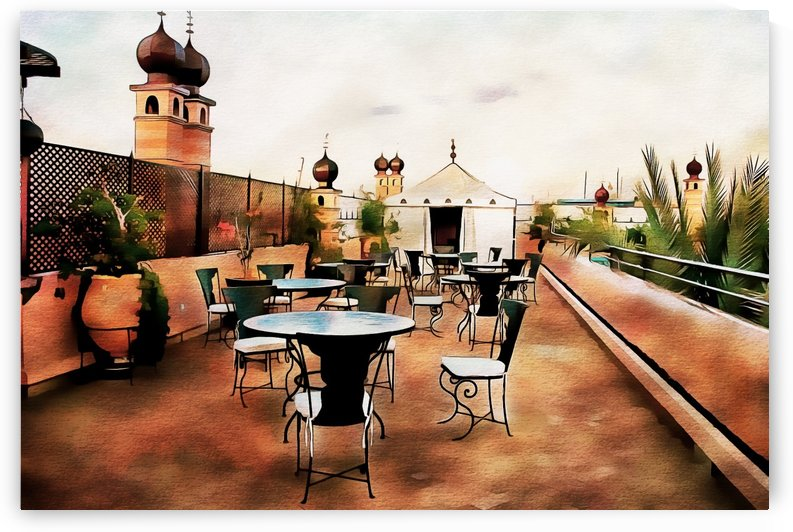 Rooftop View Marrakech 2 by Dorothy Berry-Lound