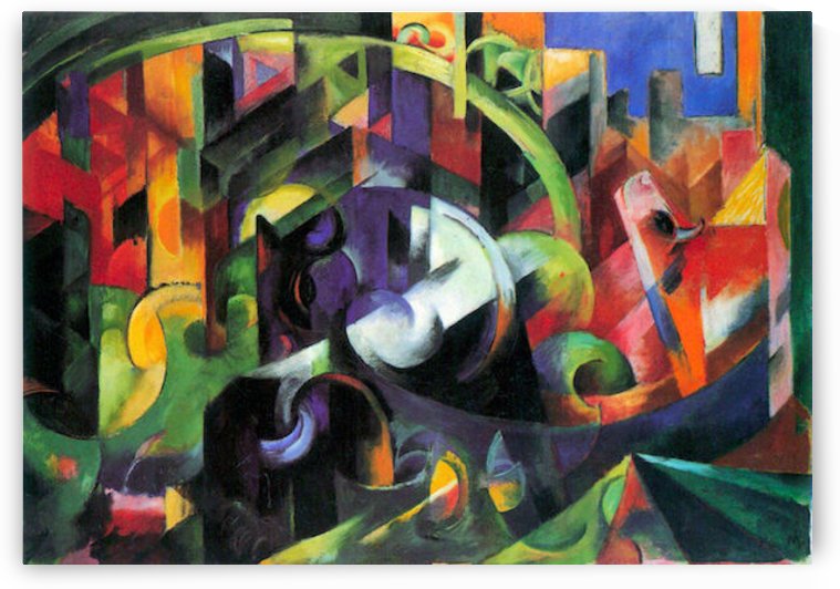 Abstract with cattle by Franz Marc by Franz Marc