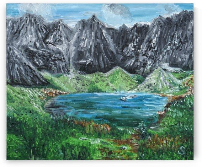 Zelene kacica pleso  Green Duck Tarn in High Tatra mountains  by Edwin John