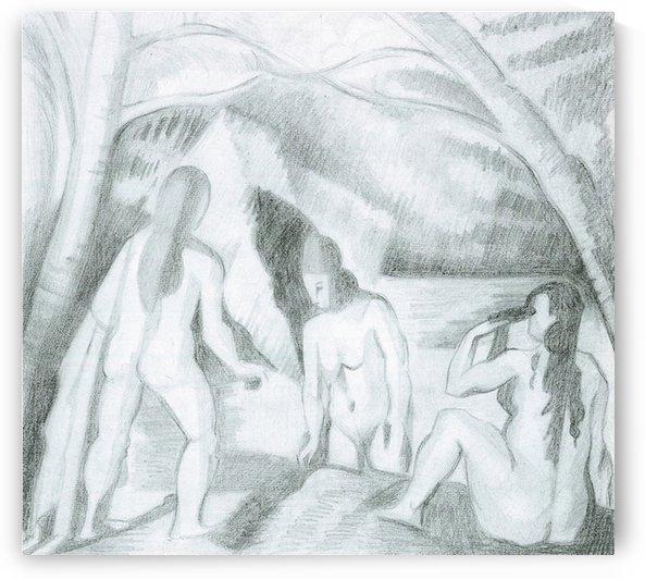 Bathing (Cezanne) by Juan Gris by Cezanne