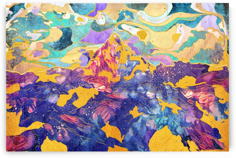 Dreamy Mountain - Illustration II by Art Design Works