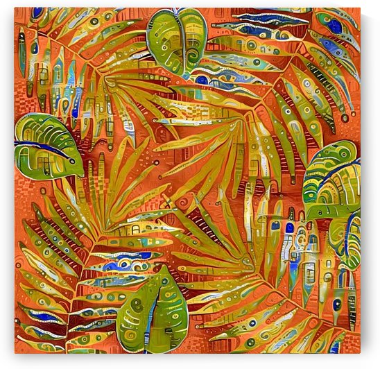 Tropical Leaves Abstract 2 by Gabriella David