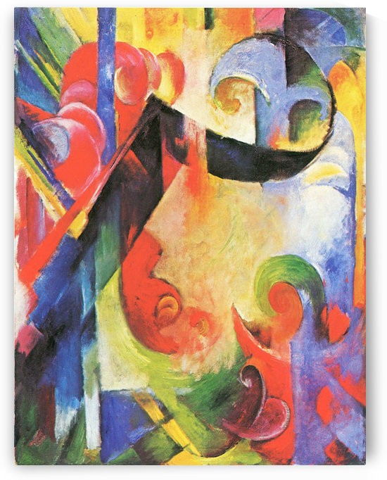 Broken Forms by Franz Marc by Franz Marc