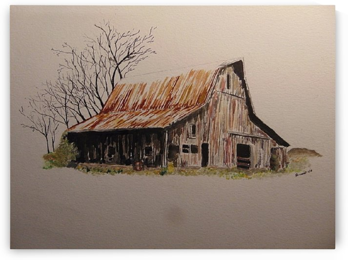 Barn by Ralph Cannell by Ralph Cannell - Art by Cannell