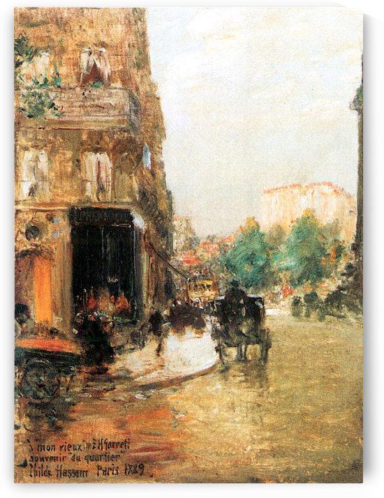 Parisian street scene -2- by Hassam by Hassam