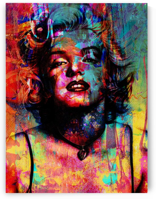 Marilyn Monroe Abstract Portrait by Art By Dominic