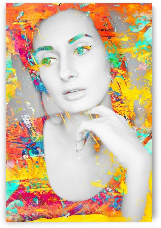 Portrait of a Woman - Digital Art by Art By Dominic