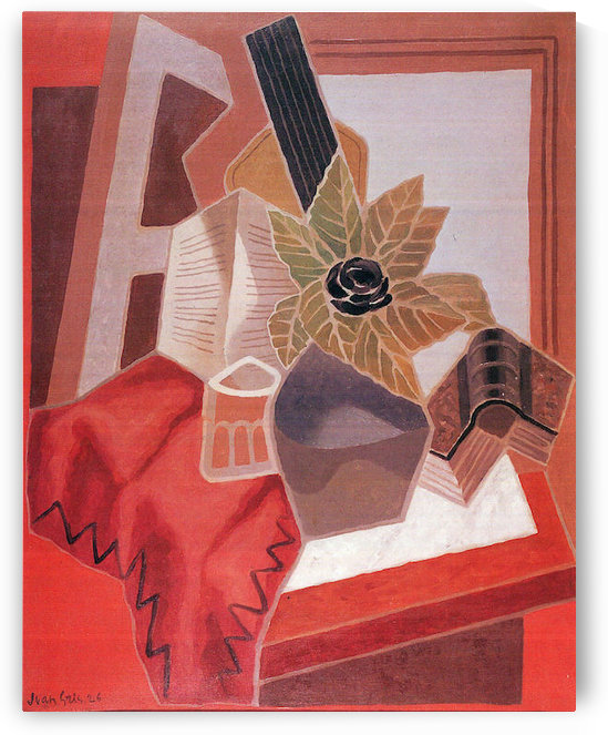 Flowers on the table by Juan Gris by Juan Gris