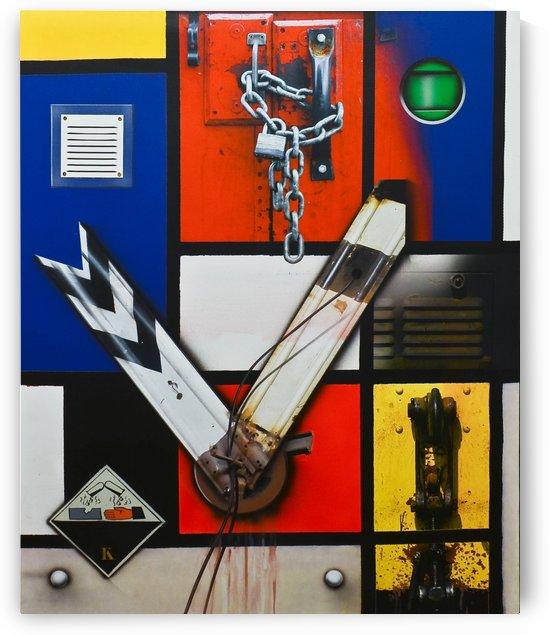 Tribute To Mondrian by Vango Art Gallery