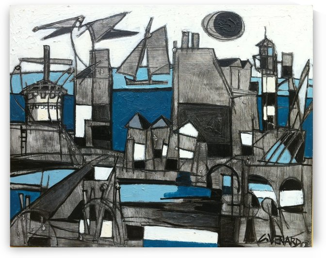 The Port by Vango Art Gallery