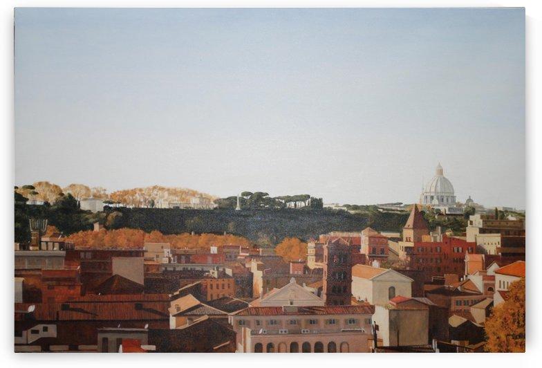 Saint Peters From The Terrace Of Santa Sabina by Vango Art Gallery