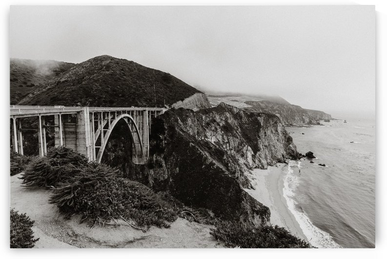 Bixby Bridge B&W by StephanieAllard