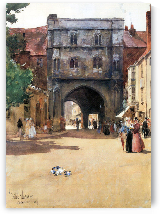 Passage in Canterbury by Hassam by Hassam