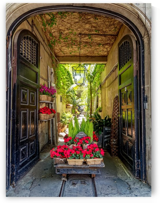 Entryway to flower shop. Buenos Aires Argentina by Pedro Orso