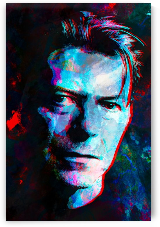 David Bowie Abstract Portrait by Art By Dominic