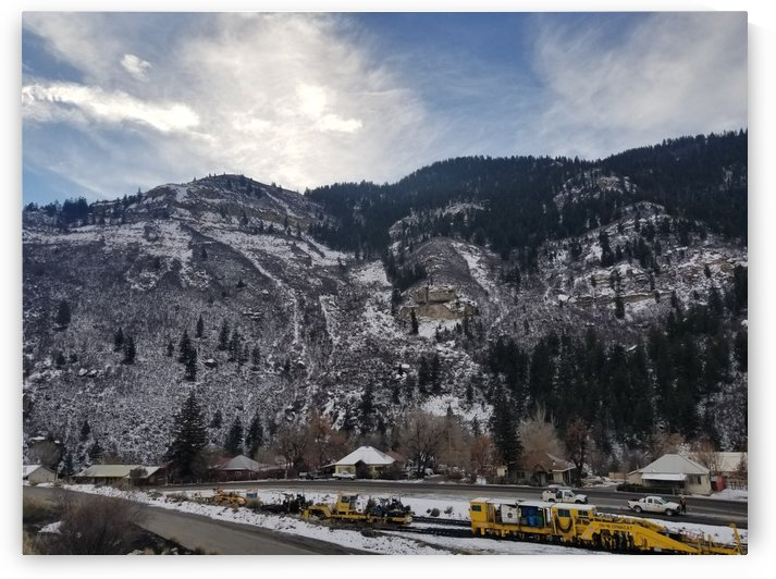 Railroad Construction In Mountains by Cam