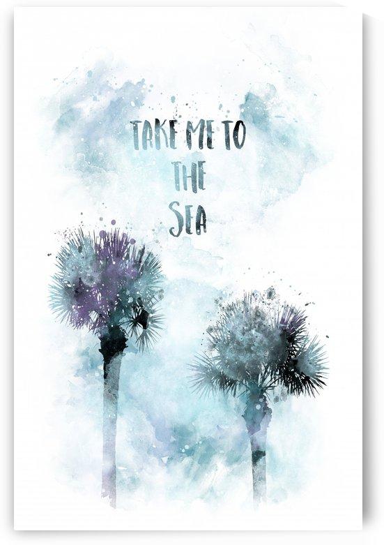 Modern Art TAKE ME TO THE SEA   jazzy watercolor by Melanie Viola