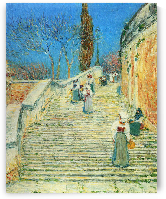 Piazza di Spagna, Rome by Hassam by Hassam