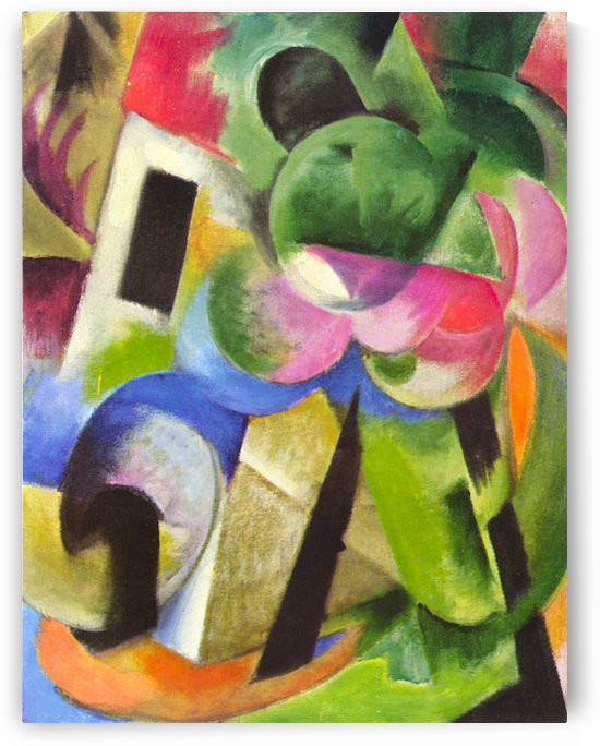 House with trees by Franz Marc by Franz Marc