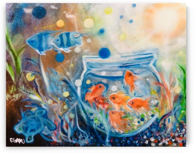FISH BOWL IN THE OCEAN by JAMES EGAKU