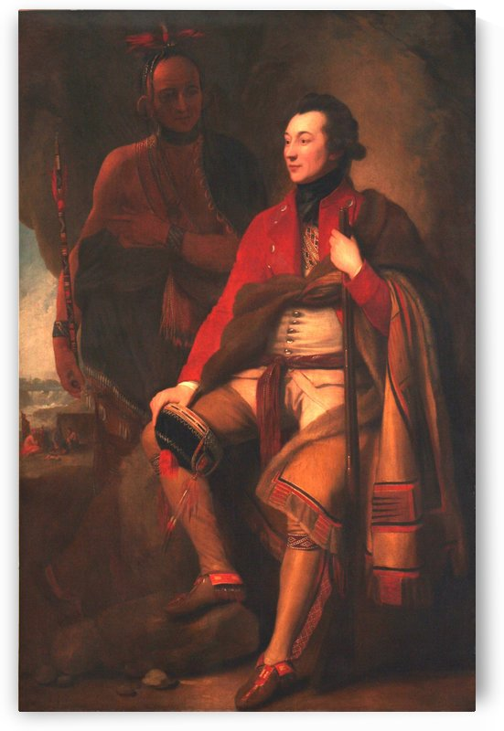 Portrait of Colonel Guy Johnson and Karonghyontye by Benjamin West