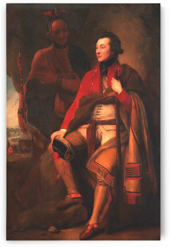 Portrait of Colonel Guy Johnson and Karonghyontye by Benjamin West