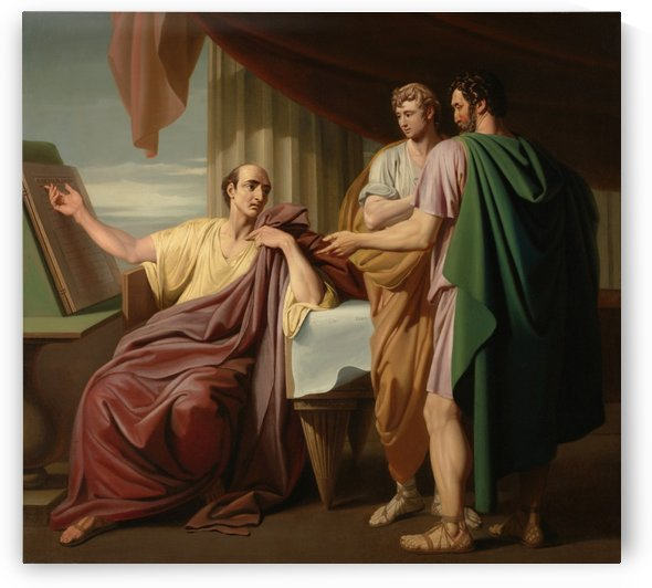 Caesar Reading by Benjamin West