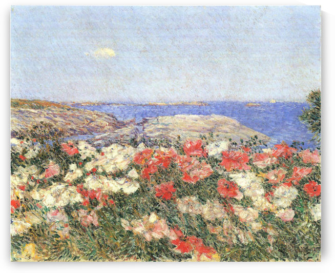 Poppies on the Isles of Shoals by Hassam by Hassam