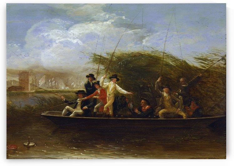 A party of gentlemen fishing by Benjamin West