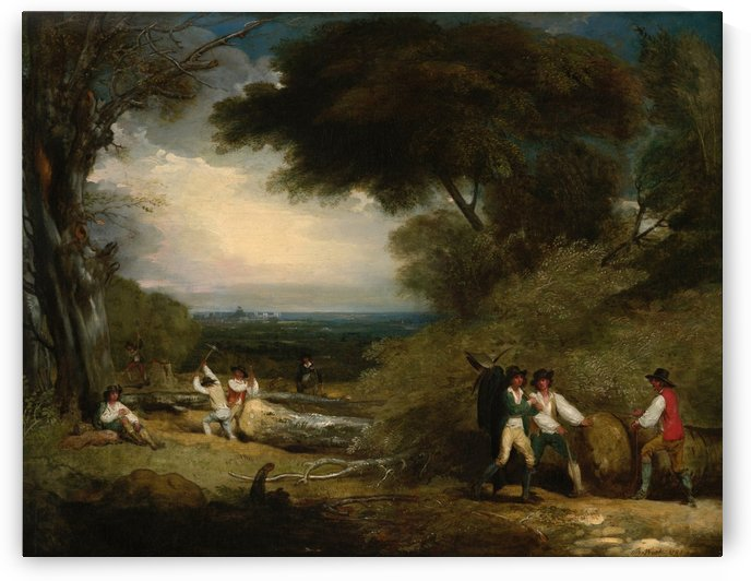 Woodcutters by Benjamin West