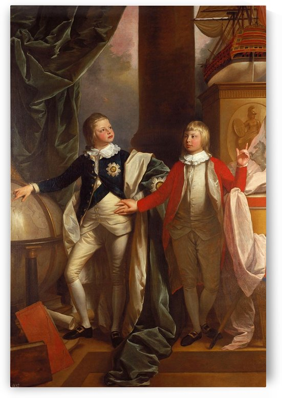 Princes William and Edward by Benjamin West
