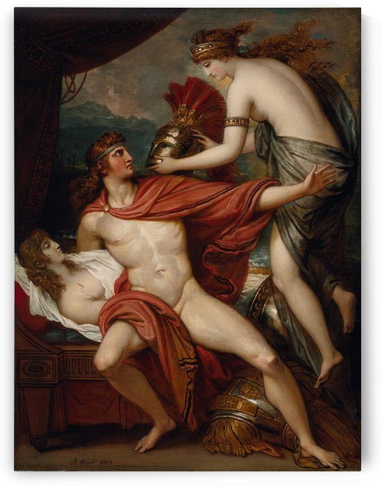 Thetis bringing armor to Achiles by Benjamin West