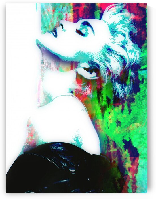 Madonna True Blue Abstract Portrait  by Art By Dominic