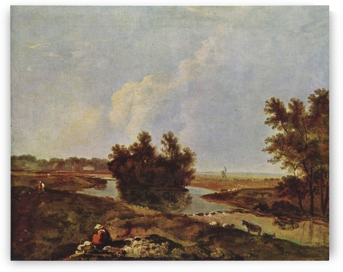 Bush in the river by Richard Wilson