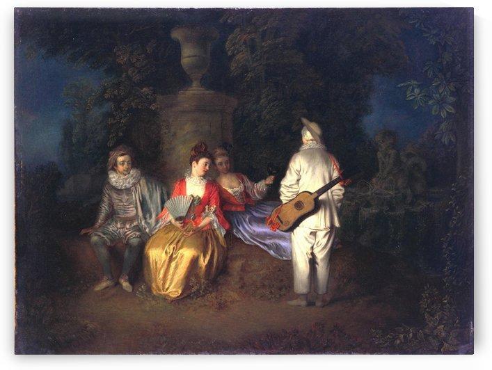 La Partie carree by Antoine Watteau