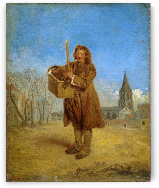 Le Savoyard et la marmotte by Antoine Watteau