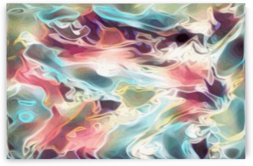 Realm of the Gods - multicolor rainbow abstract swirls wall art by Jaycrave Designs