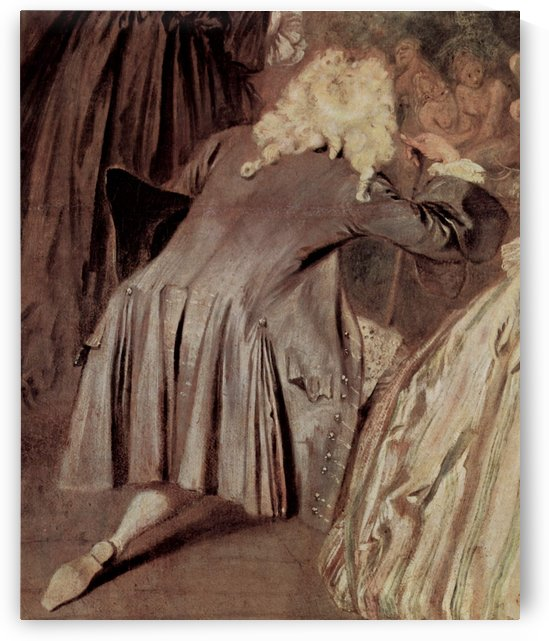 Gersaints Ladenschild, Detail by Antoine Watteau