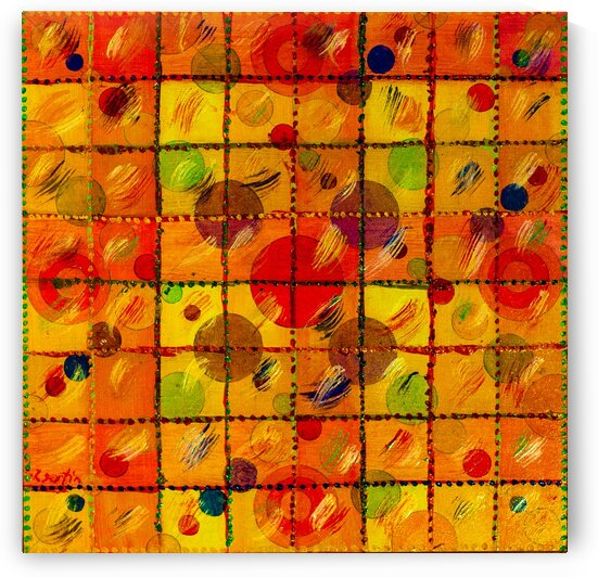 ABSTRACT LINES CIRCLES DOTS 13 by Keith Gustin