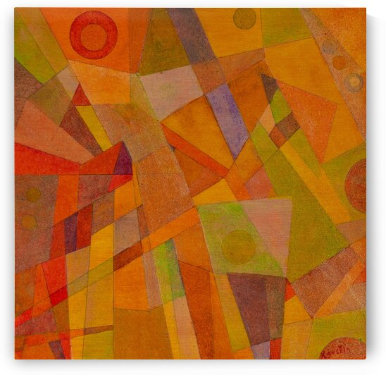ABSTRACT LINES CIRCLES DOTS 10  by Keith Gustin