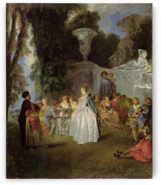 Venezianische Feste by Antoine Watteau