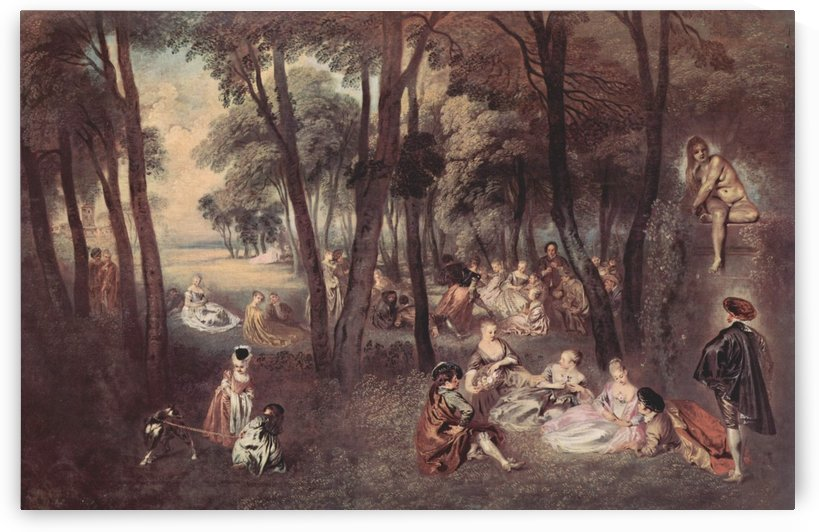 Amusements champetres by Antoine Watteau