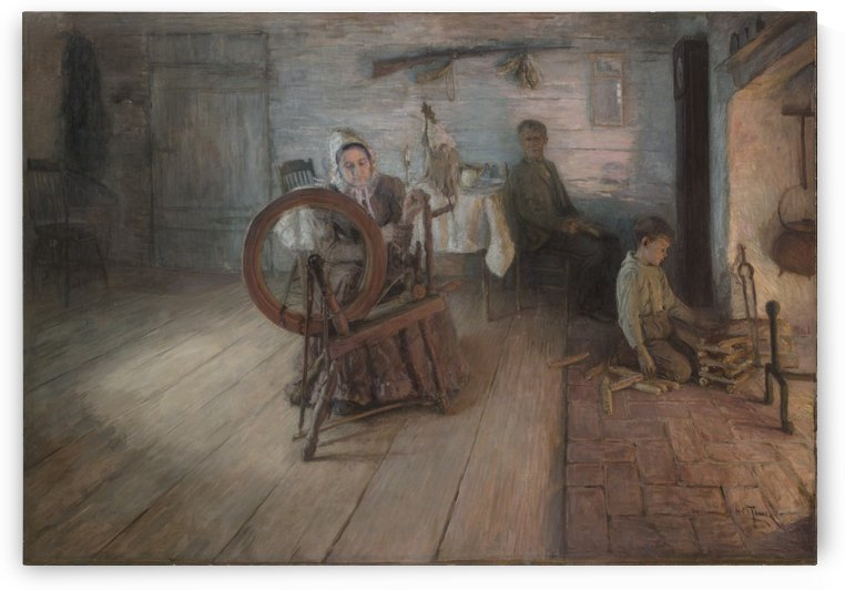 Spinning By Firelight by Henry Ossawa Tanner