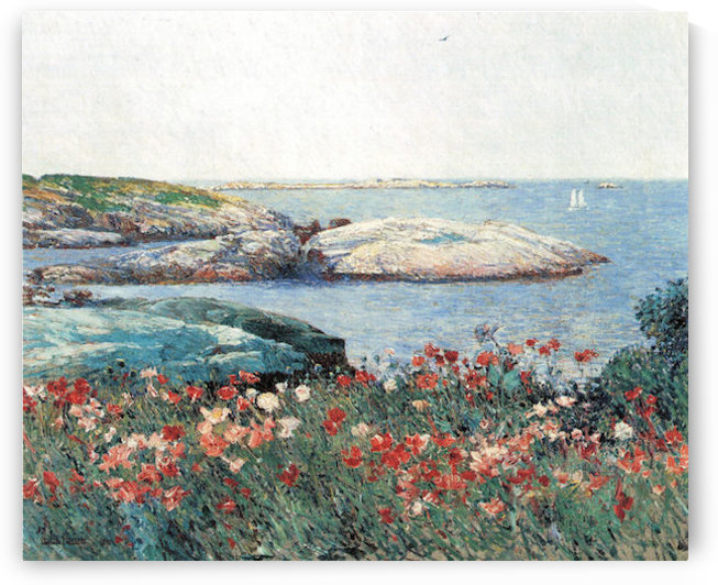 Poppies, Isles of Shoals -1- by Hassam by Hassam