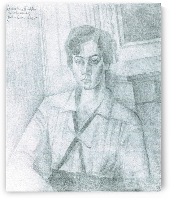 Portrait of Madame Hiudobro by Juan Gris by Juan Gris