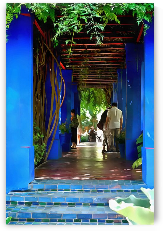 Shady Blue Walkway Marrakech by Dorothy Berry-Lound