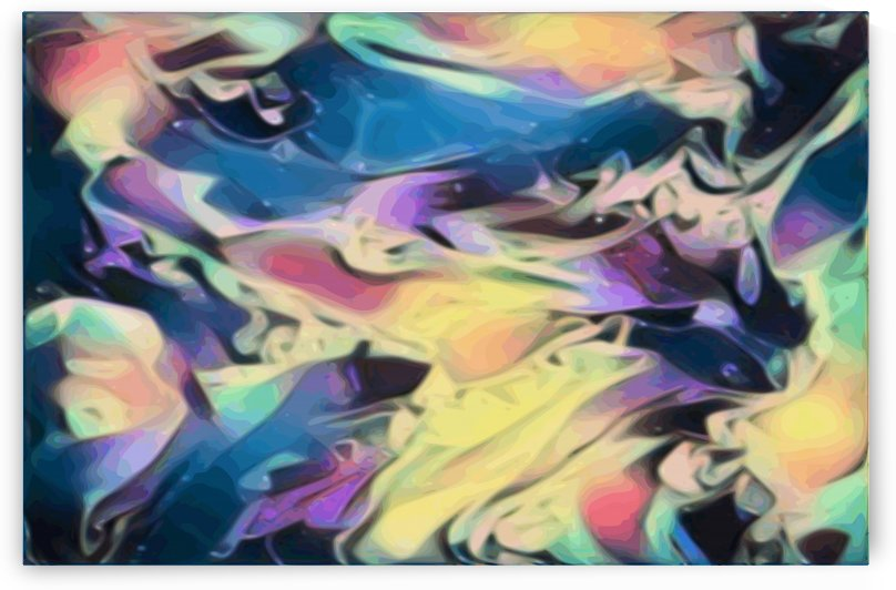 Smooth Brandy - multicolor abstract swirl wall art by Jaycrave Designs