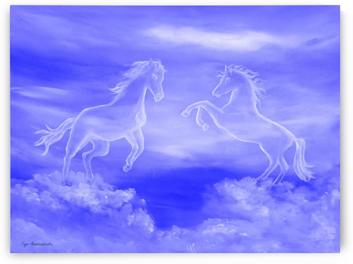Horse Spirit Clouds by Faye Anastasopoulou