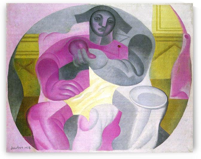 Sitting Harlequan by Juan Gris by Juan Gris
